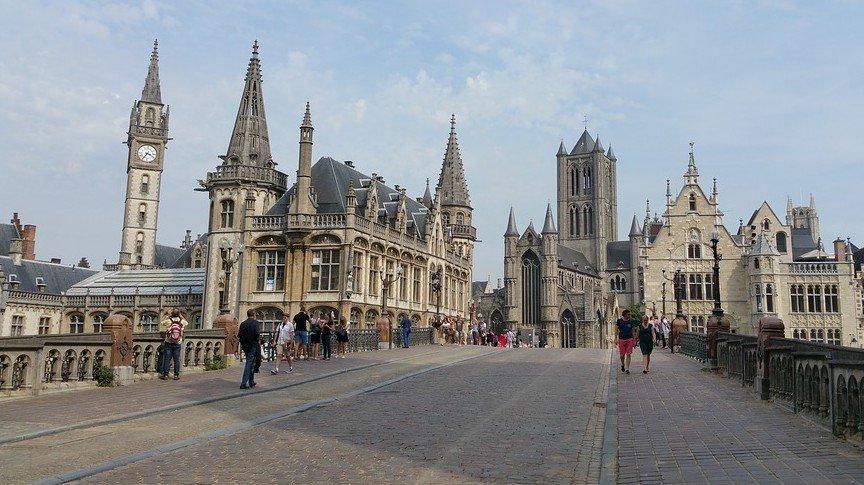 Wandelen en kuieren in Gent (België) - Gent