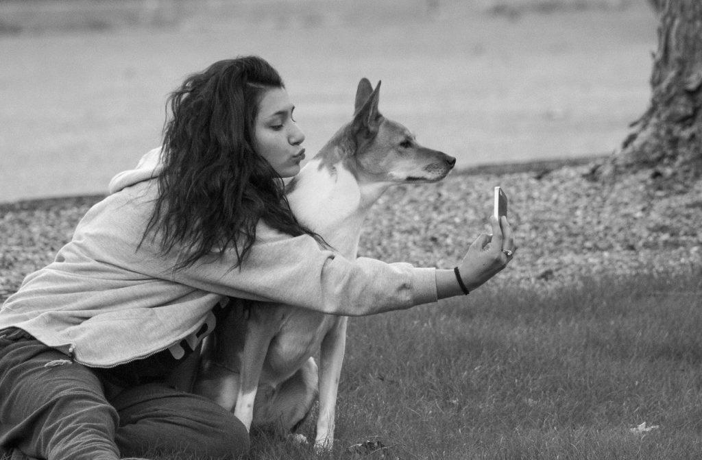 selfie met hond